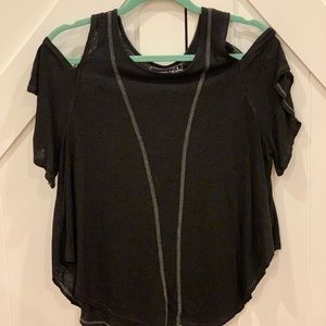 Free People cut out shoulder tee